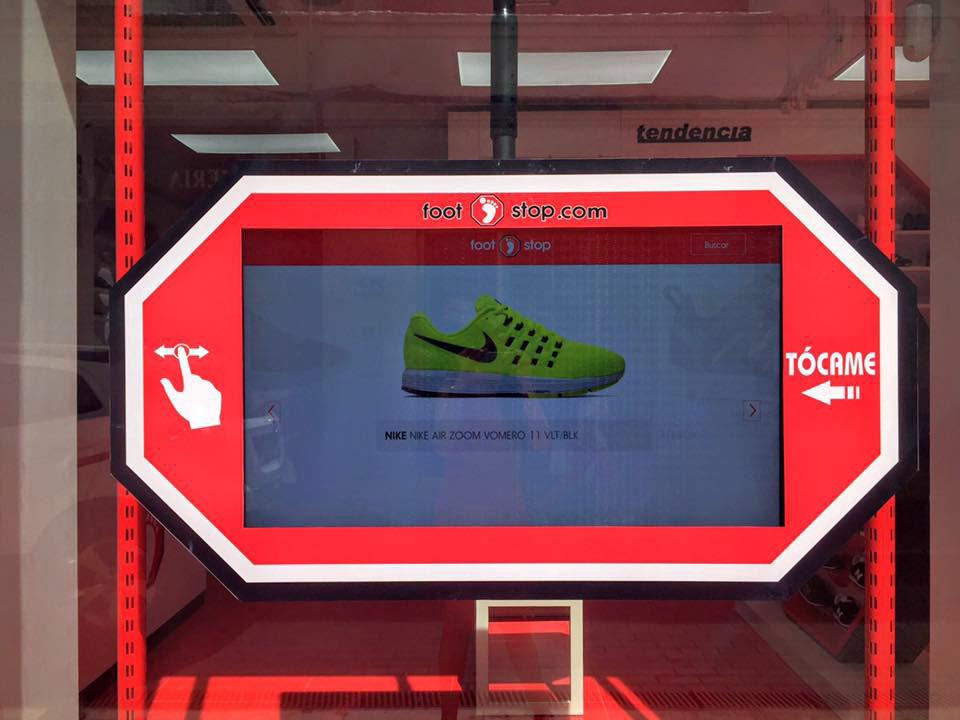 pantallas para seleccionar zapatillas en la linea de la concepcion