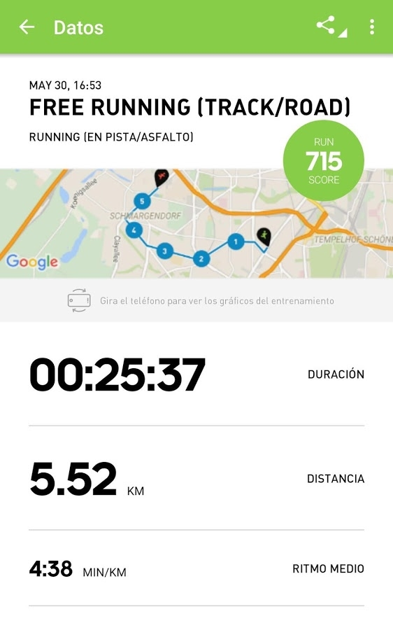 app de entrenamiento adidas train and run 2