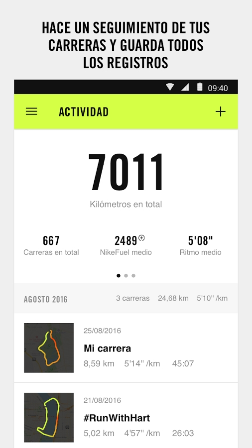 app de entrenamiento nike run club 2