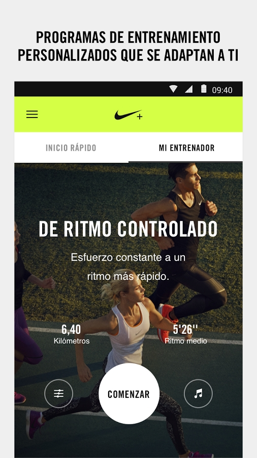 app de entrenamiento nike run club