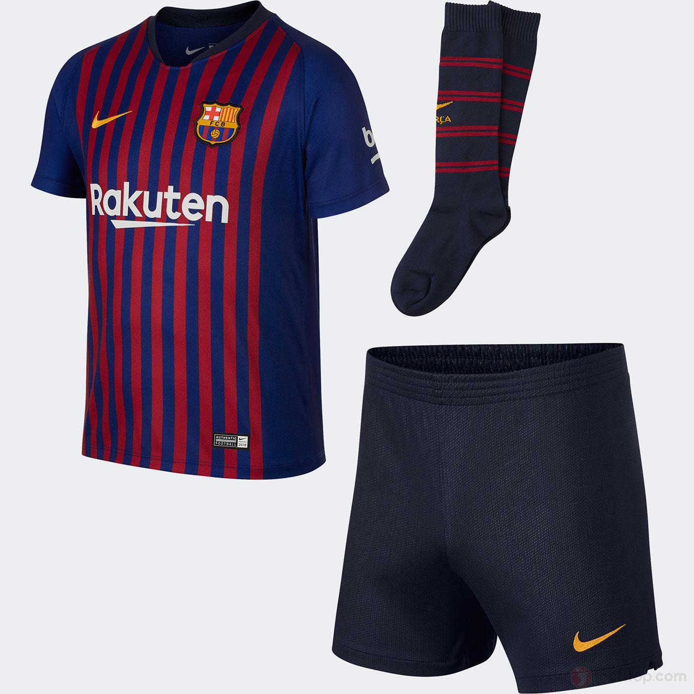 Home Ropa y equipaciones Equipaciones de fútbol. Nike Pack equipación niño  FC Barcelona local ... 67d20602099